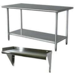 Working table steel & shelf