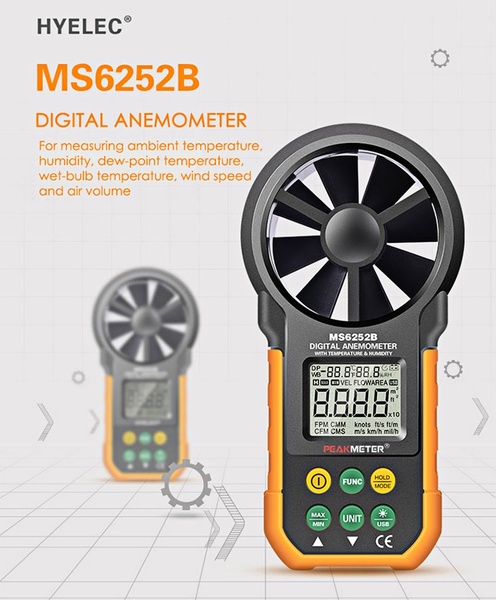 Digital Anemometer/Wind Speed Meter/Air Volume Meter