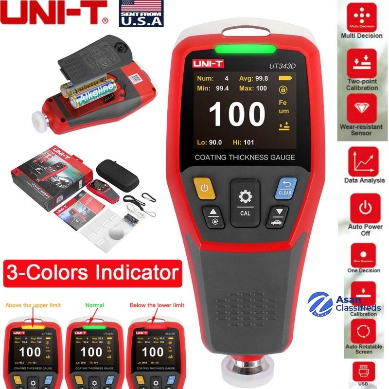 UNI T Coating Thickness Gauge UT343D