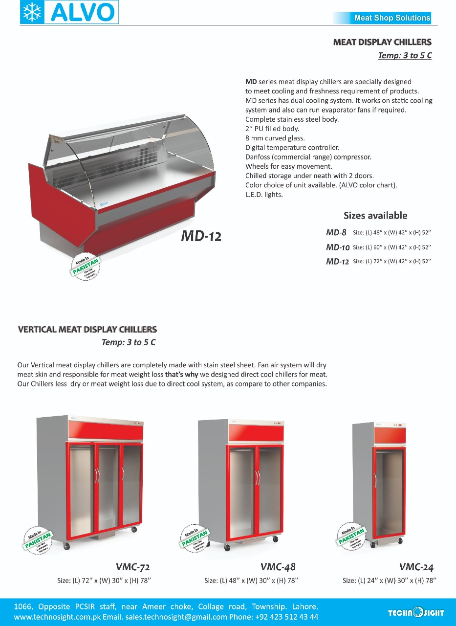 Meat Display Chiller, Equipment for Meat Shop in Pakistan, Commercial Meat Shop Equipment in Pakistan
